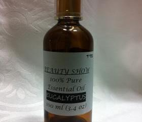 100% Pure Therapeutic Grade Essential Eucalyptus Oil 100ml/3.4oz